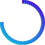 Meio círculo com as cores do logotipo da SPNow